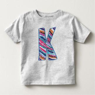 Lettre colorée K comme en Kay T-shirts