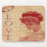 Lettre d'amour antique Mousepad Tapis De Souris
