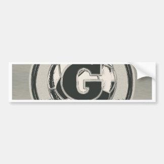 Lettre G de monogramme du football de médaille Autocollant De Voiture