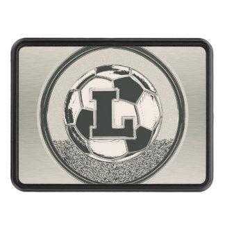 Lettre L de monogramme du football de médaille Couvertures Remorque D'attelage