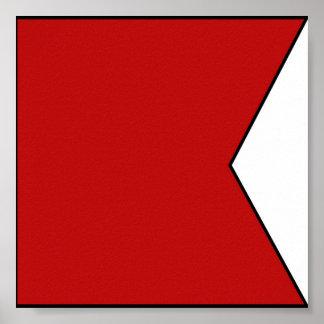 Lettre maritime internationale de drapeau de poster
