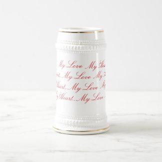 Lettres d'amour tasses à café