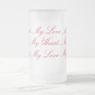 Lettres d'amour tasse à café