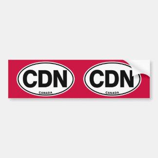 Lettres de code ovales d'identité du Canada CDN Autocollant De Voiture