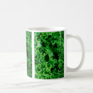 Lettuce Close Up Print - Weird Unique Gift Coffee Mug