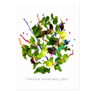 lettuce entertain you - dark postcard