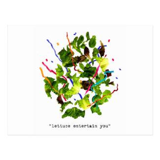 lettuce entertain you - light postcard