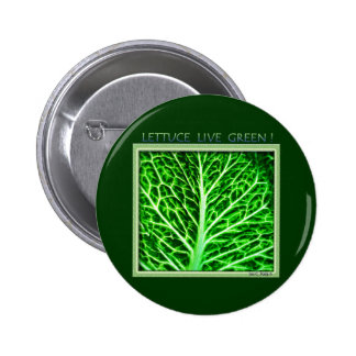 LETTUCE LIVE GREEN 2 INCH ROUND BUTTON