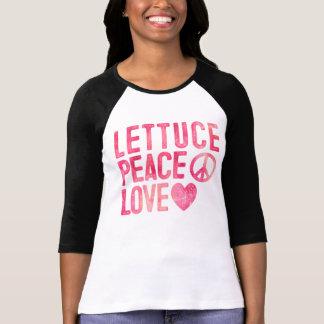 Lettuce Peace Love Ladies Plant Based Foodie T-Shirt