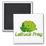 Lettuce Prey Square Magnet