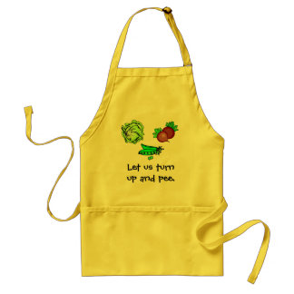 Lettuce turnip and pea apron