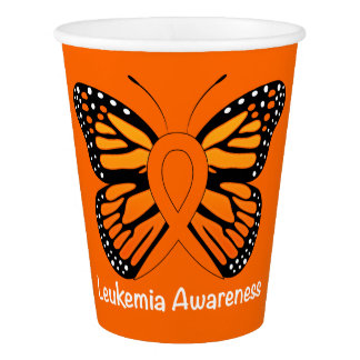 Leukaemia Butterfly Awareness Ribbon Paper Cup