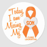 Leukaemia Missing My Son 1 Round Stickers
