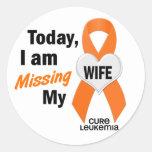 Leukaemia Missing My Wife 1 Stickers