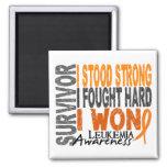 Leukaemia Survivor 4 Square Magnet