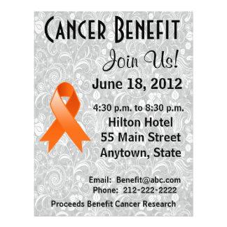 Leukemia Awareness Benefit Gray Floral Flyer