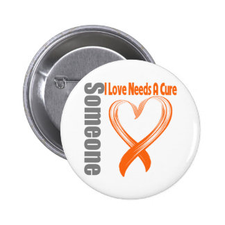 Leukemia Cancer Someone I Love Needs A Cure 2 Inch Round Button