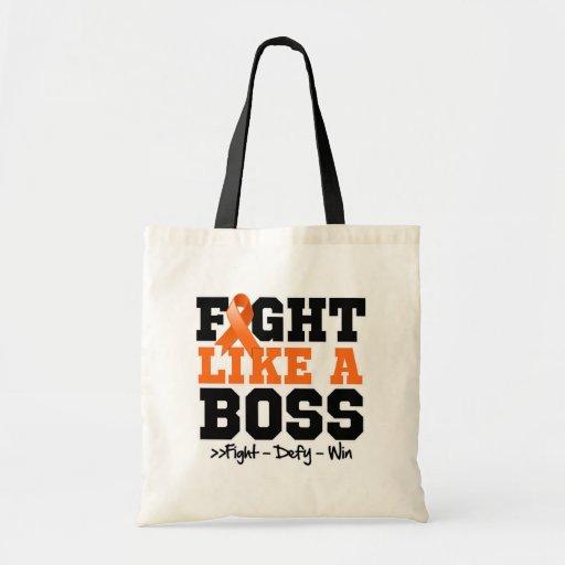 Leukemia Fight Like a Boss Canvas Bags