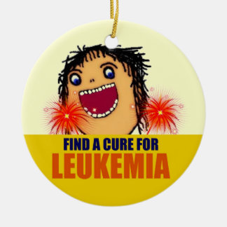 Leukemia Guardian Angel Ceramic Ornament