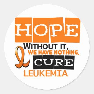 Leukemia HOPE 2 Round Sticker