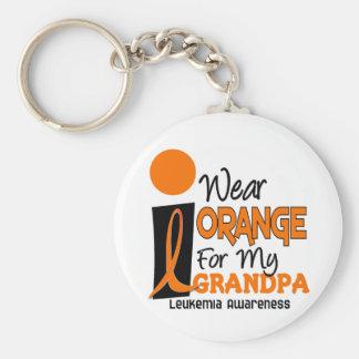 Leukemia I WEAR ORANGE FOR MY GRANDPA 9 Keychain