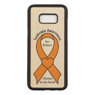Leukemia Name Customizable Awareness Ribbon Carved Samsung Galaxy S8+ Case
