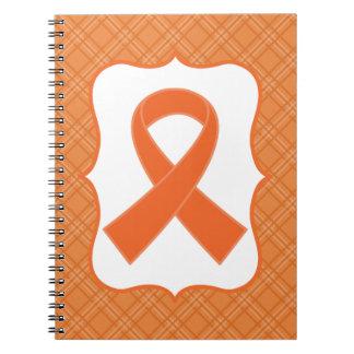 Leukemia or Multiple Sclerosis Orange Ribbon Notebooks
