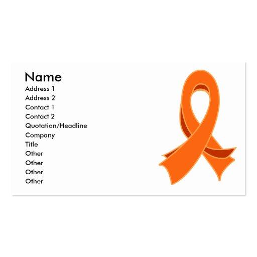 Leukemia Stylish Ribbon Business Card