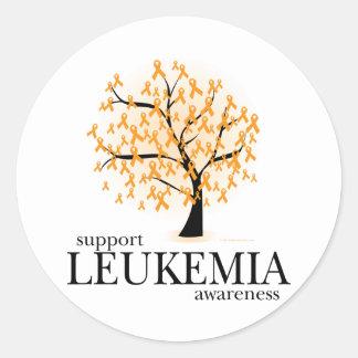 Leukemia Tree Round Sticker