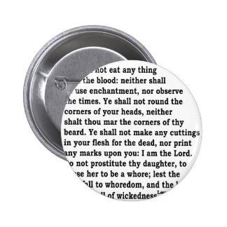 Lev. 19: 26 2 inch round button