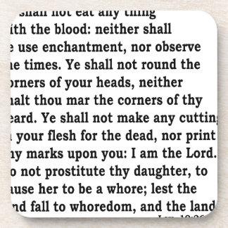 Lev. 19: 26 coaster