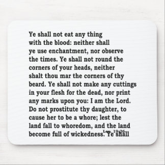 Lev. 19: 26 mouse pad