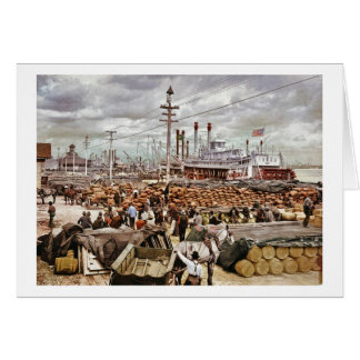 Levee at Canal Street New Orleans 1900 Card