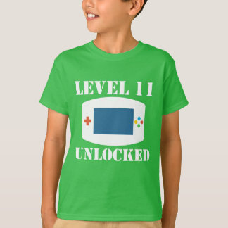 Level 11 Unlocked Video Games 11th Birthday T-Shirt