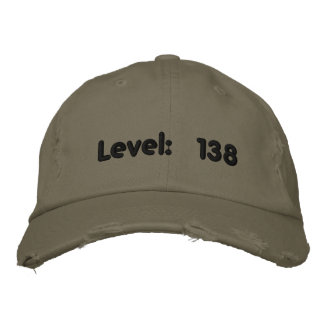 Level: 138 embroidered hat