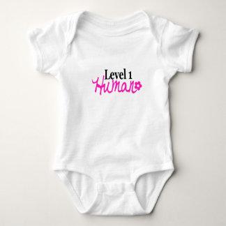 Level 1 Human -girl/pink Baby Bodysuit