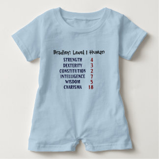 Level 1 Human Personalized Baby Romper
