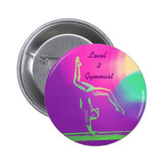 Level 3 Gymnast button