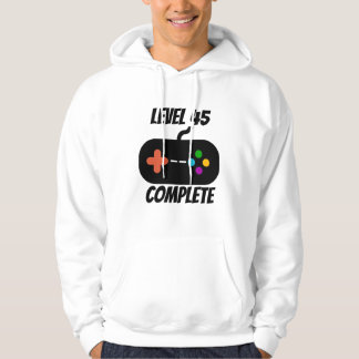 Level 45 Complete 45th Birthday Hoodie