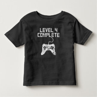 Level 4 Complete 4th Birthday Toddler T-shirt