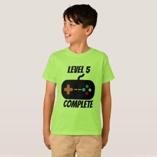 Level 5 Complete 5th Birthday T-Shirt