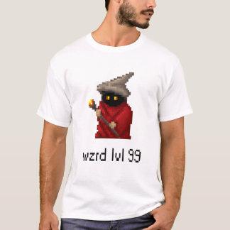 Level 99 Wizard Pixel Art T-Shirt