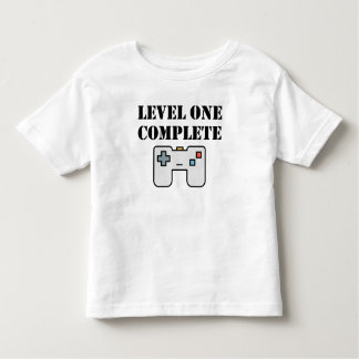 Level One Complete First Birthday Toddler T-shirt