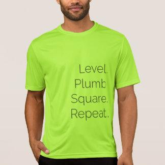 Level Plumb Square Carpentry Dri-fit SS Lime T-Shirt