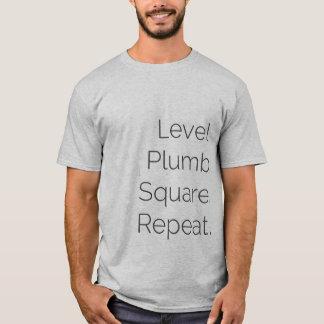 Level Plumb Square Carpentry SS Grey T-Shirt
