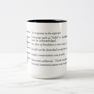 Levels of Humanity coffee graph mug. Two-Tone Coffee Mug