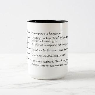Levels of Humanity coffee graph mug. Two-Tone Coffee Mug