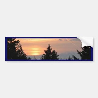 Lever de soleil au-dessus de lac Superior.jpg Autocollant De Voiture