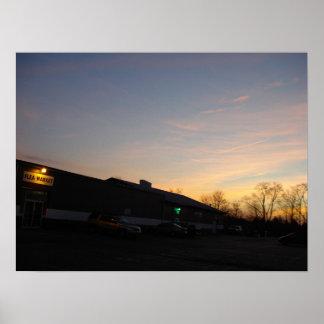 Lever de soleil de début de la matinée à l affiche