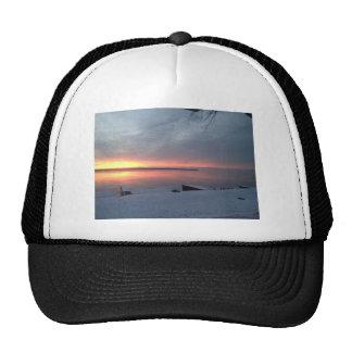 Lever de soleil d'hiver casquette de camionneur